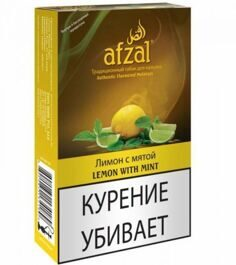 Табак Afzal Lemon with Mint Лимон с мятой 40 грамм